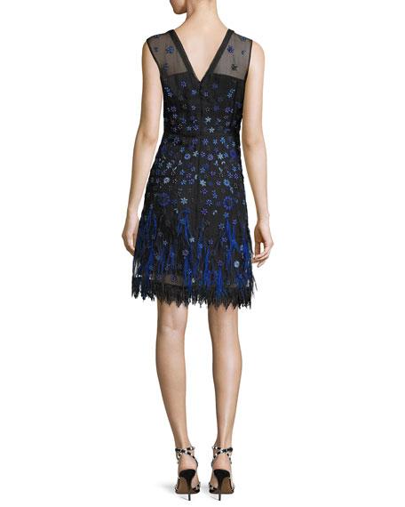 Jayla V-Neck Floral Layered Dress