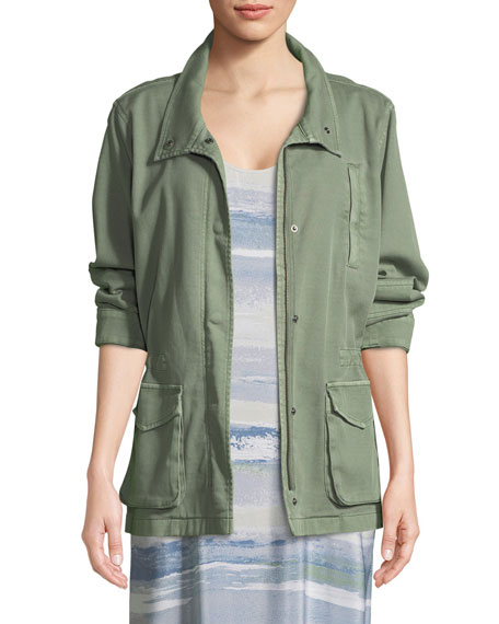 NIC+ZOE Modern Cotton-Blend Utility Jacket