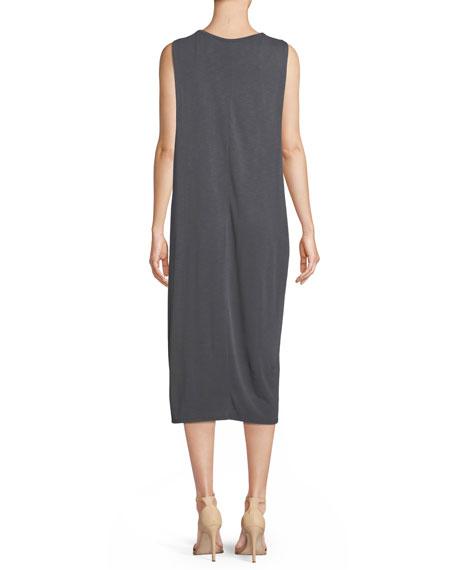 Wanderlust Sleeveless Shift Midi Dress, Plus Size