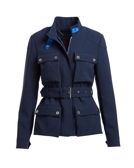 Trevi Cargo-Pocket Drawstring Jacket