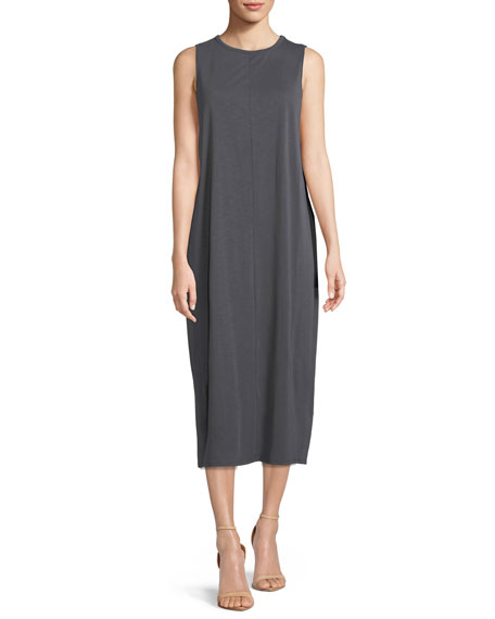 Wanderlust Sleeveless Shift Midi Dress, Petite