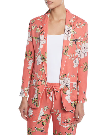 Joie Daltona Silk Floral-Print Lounge Pants and Matching