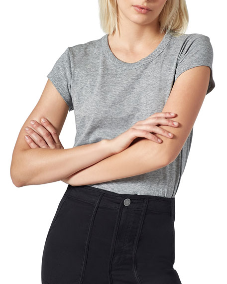 Delzia Crewneck Short-Sleeve Pima Cotton Tee