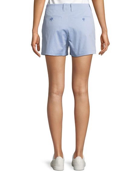 Brusha Flat-Front Shorts