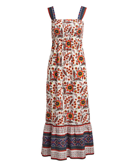 Chisuzu Sleeveless Multi-Printed Cotton Maxi Dress