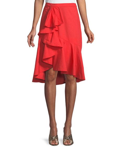 Chesmu Poplin Ruffle Skirt