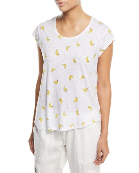 Joie Neyo B Crewneck Banana-Print T-Shirt