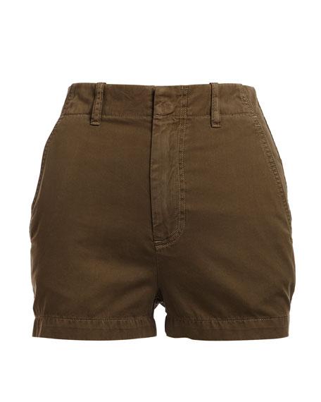 Brusha Mid-Rise Cotton Shorts