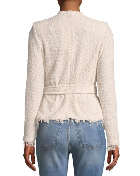 Schala Wrap-Front Boucle Jacket