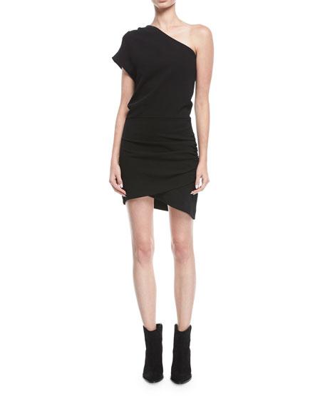 Davov One-Shoulder Short Cocktail Dress