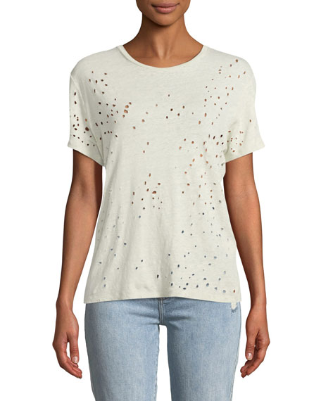 Sija Distressed Linen Top
