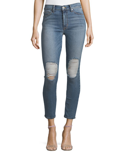 Barbara High-Waist Super-Skinny Ankle Jeans