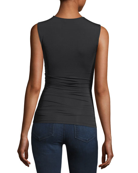Formfitting Travel Jersey Ruched Shell