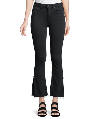 Colette Cropped Flare Jeans w/ Raw Hem