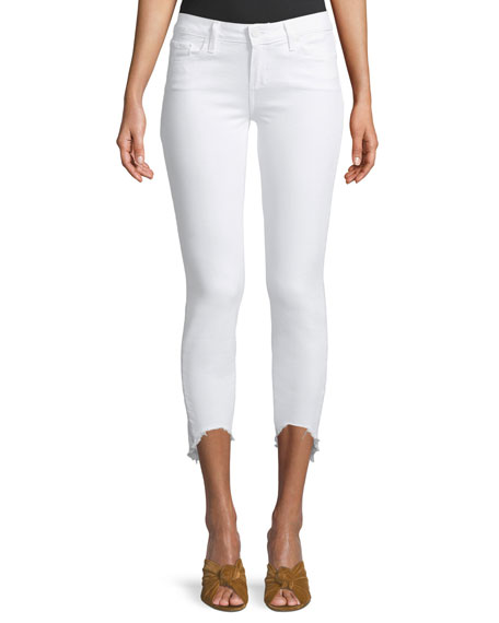 Verdugo Skinny Crop Jeans with Arched Hem