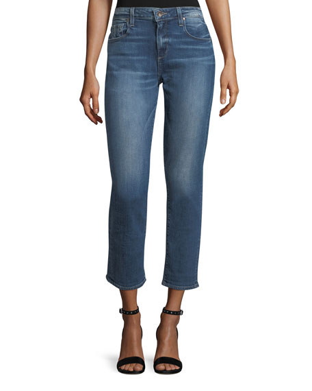 Brigette Straight-Leg Ankle Jeans