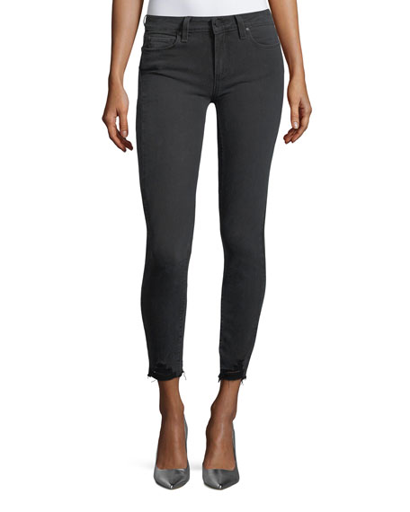 PAIGE Verdugo Mid-Rise Skinny-Leg Ankle Jeans