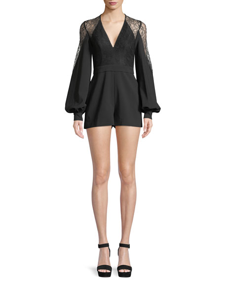Alexis Bertine Long-Sleeve Romper