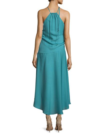 The Marina Halter Sleeveless Silk Dress