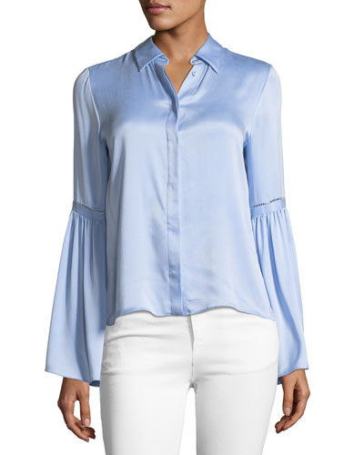 Bolton Button-Down Bell-Sleeve Shirt