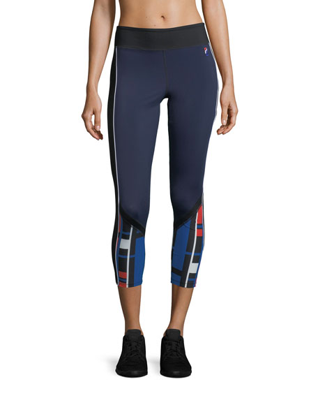 PE Nation The Bowl Out Cropped Performance Leggings