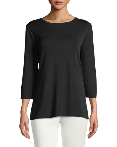 3/4-Sleeve Layering Shell, Plus Size