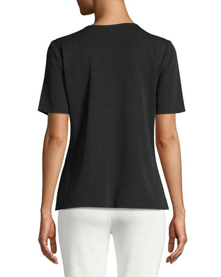 Short-Sleeve Shell, Plus Size
