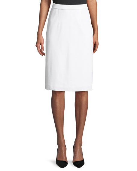 Lined Straight Pull-On Skirt