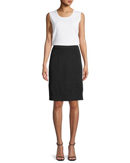 Straight Knee-Length Skirt, Petite