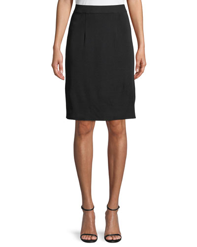 Straight Knee-Length Skirt, Petite