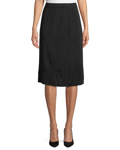 Straight Pull-On Skirt
