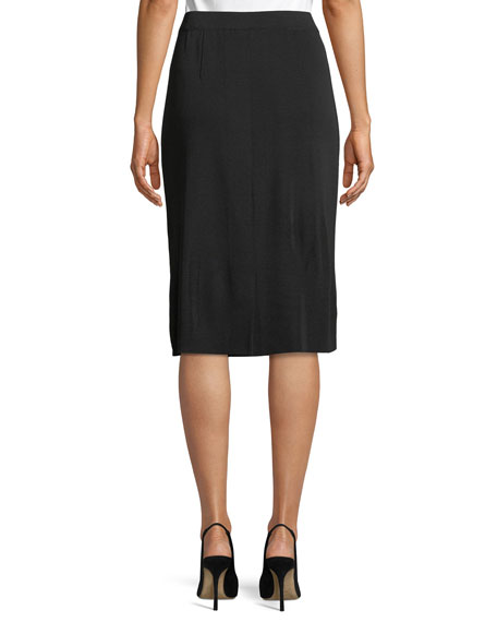 Straight Pull-On Skirt, Plus Size