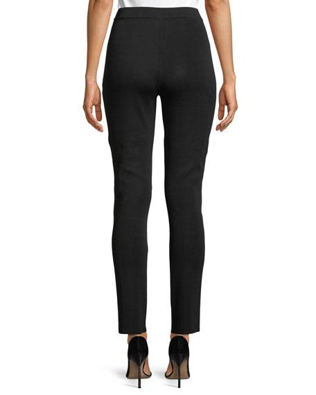 Seam-Detailed Slim-Fit Pants