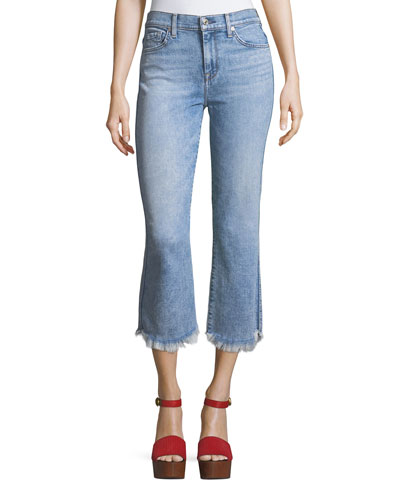 Ali Cropped Jeans with Raw-Edge Hem