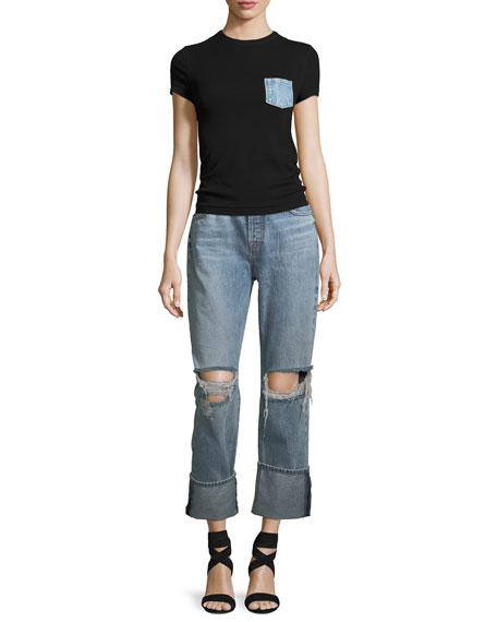 Rickie Distressed Boyfriend Ankle Jeans