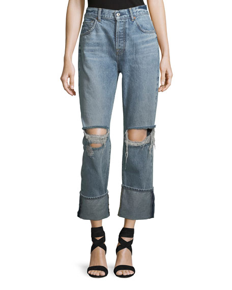 7 For All Mankind Rickie Distressed Boyfriend Ankle