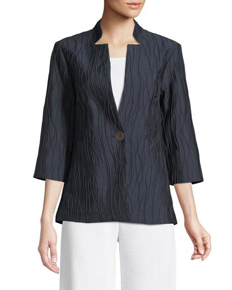 Single-Button Topper Jacket
