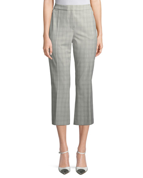 Elie Tahari Lisa Micro Plaid Crop Pants