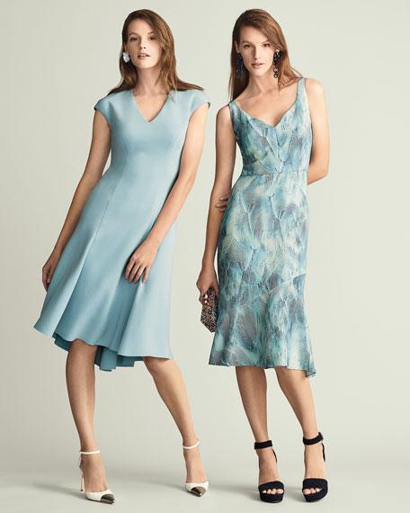 Moriah Knit V-Neck A-Line Dress