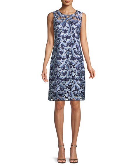 Biebra Floral-Lace Shift Dress