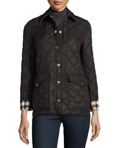 Westbridge Quilted Jacket, Black