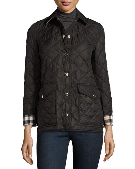 Burberry Westbridge Quilted Jacket Black Neiman Marcus