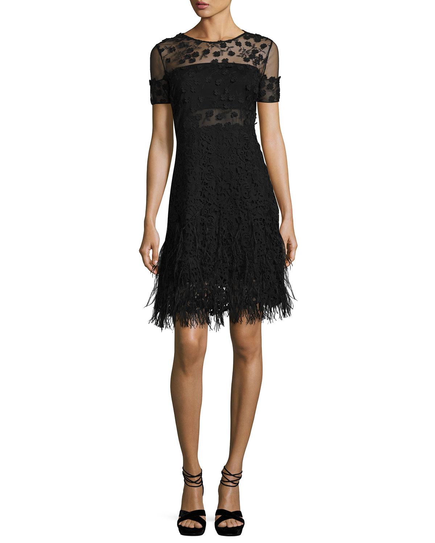 Black Fringe Dress | Neiman Marcus