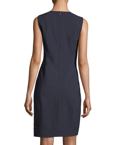 Roanna V-Neck Sheath Dress