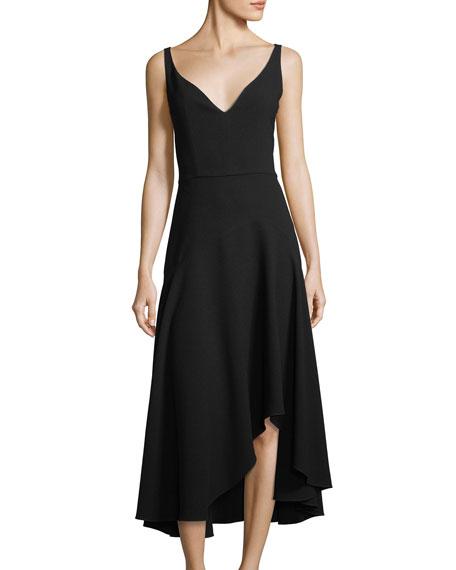 Elie Tahari Susie Asymmetric-Hem A-Line Dress