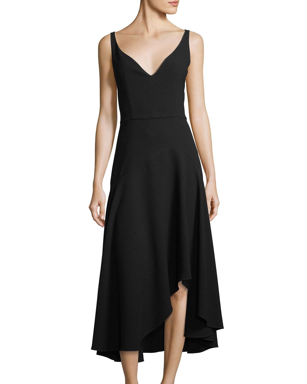 Elie Tahari Susie Asymmetric-Hem A-Line Dress   Neiman Marcus