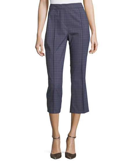 Lisa Two-Tone Plaid Crop Pants