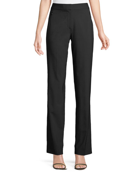 Elie Tahari Leena Split-Cuff Wool-Blend Pants