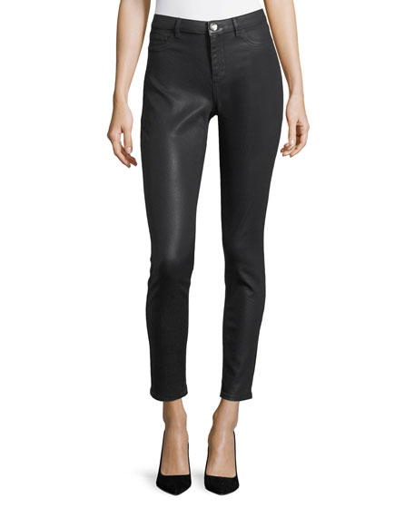 Elie Tahari Azella Coated-Denim Jeans