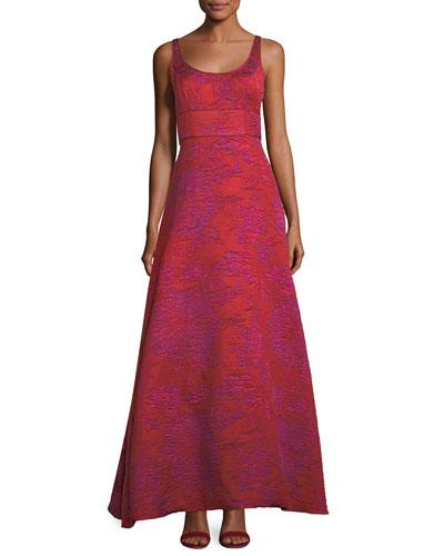 Scoop-Neck A-Line Asymmetric Dress